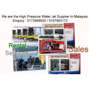 High Pressure Water Jet 10000 Psi to 40000 Psi for Tank & Pipe Cleaning Services Contractor Malaysia