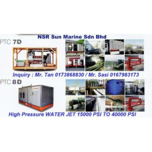 Rental Sales Water Jet 1000 bar to 2000 bar Kuala Lumpur Malaysia