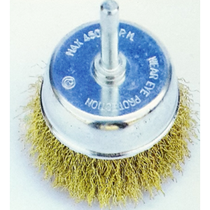 Cup Brushes With Shank Crimped Wire