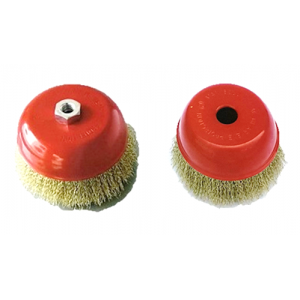 Cup Brushes, Crimped Wire, Medium Duty