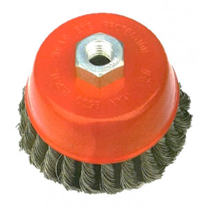 Double Rows Cup Brushes, Knot Wire