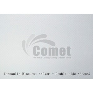 Tarpaulin Blockout (Double side: Both side printable) ±0.380 (440gsm)