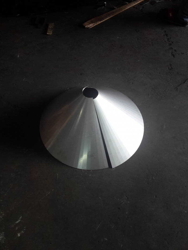STAINLESS STEEL HOPPER CONE