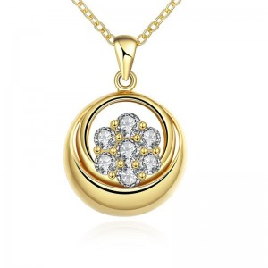 N122 - A ZIRCON NECKLACE FASHION JEWELRY (GOLD)
