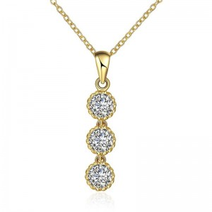 N121 - A ZIRCON NECKLACE FASHION JEWELRY (GOLD)