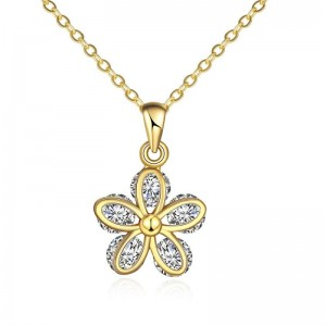 N120 - A ZIRCON NECKLACE FASHION JEWELRY (GOLD)