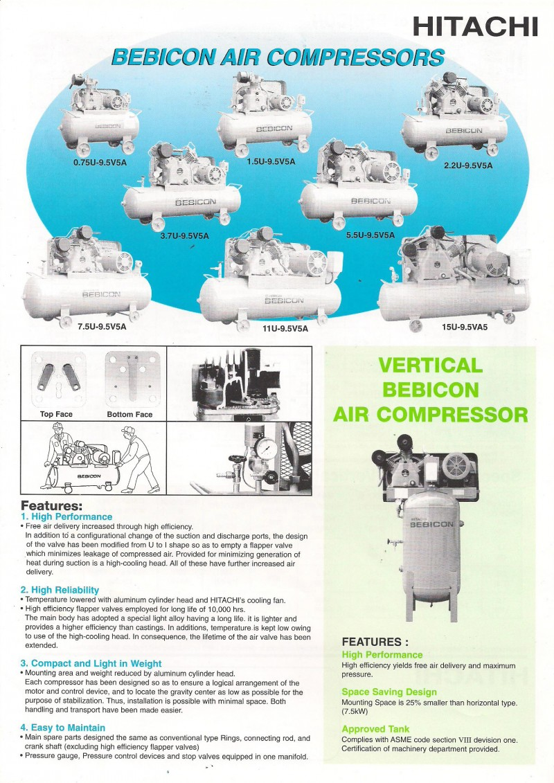 Hitachi Bebicon Air Compressors