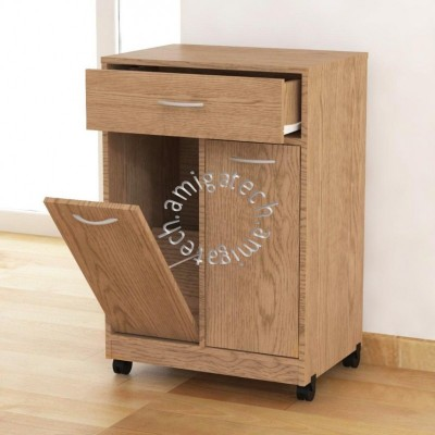 Friendly Dustbin (Kitchen Cabinet) KC 2400 New Oak