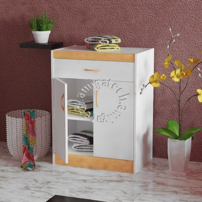 Kitchen Cabinet KC 2000 White & Beech