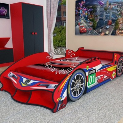 F1 Racing Sport Car Super Single Bedframe without Wheels