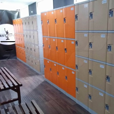 ABS Plastic Spa Lockers, Coffee Color