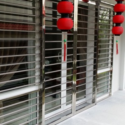 Stainless Steel Sliding Door Grille