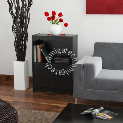 2 Doors + 1 Open Shelf USS 322 Black Oak
