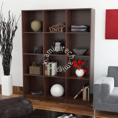 3 x 4Cubes Utility/Book Shelf US 3132 Walnut