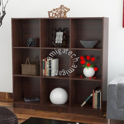 3 x 3Cubes Utility/Book Shelf US 3130 Walnut