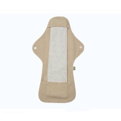 有机彩棉布网面款双面可水洗防水卫生巾400mm加长夜用柔软透气