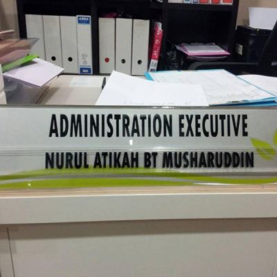 Name Holder for Desk
