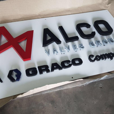 3D Box Up Lettering Signage