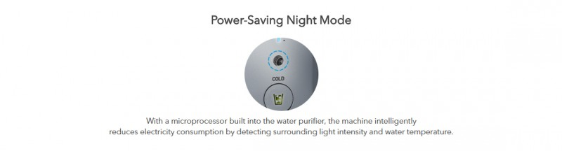 Power Saving Night Mode - Petit (CHP-06DL) Water Purifier