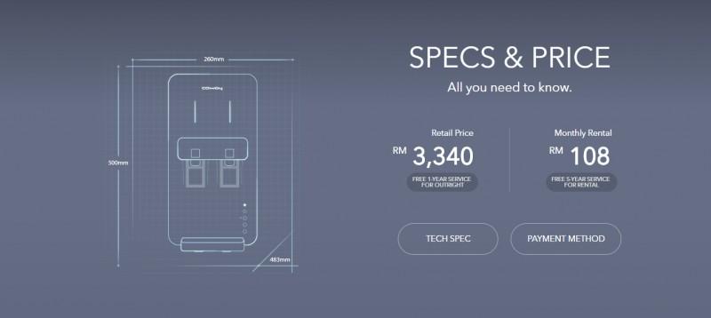 Price - Neo (CHP-260N) Water Purifier