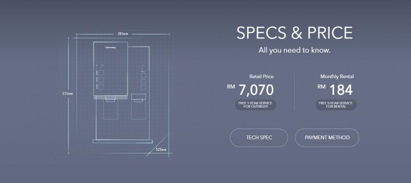 Price - Inception (CHPE-250NF) Alkaline Water Purifier