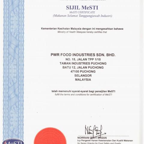 MeSTI Certificate