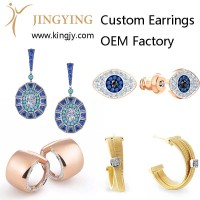 Custom earrings gold plated