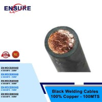 BLACK WELDING CABLES 100% COPPER - 100MTS