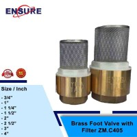 EYUGA BRASS FOOT VALVE WITH FILTER ZM.C405